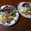 幸運な病のレシピ( 1499 )夜:サイコロステーキ、汁(キャベツ、豚しゃぶしゃぶ)、レストランポイポイ