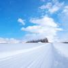 真白な雪  真青な空