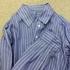 C&Sさんの綿麻ペンシルストライプでシャツを縫いました♪