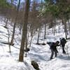 御前山で春の雪山に挑戦