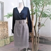コーデリレーその3、グレンチェックのストレートスカート。縫製後編。