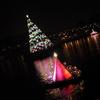 ディズニーシー:土砂降りの中のカラーオブクリスマスとクリスマスなハーバー