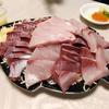 【ノリャンジン】ソウル・鷺梁津水産市場で寒ブリ刺身を食す
