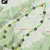 ロードバイク、勾配最大24%のいちえん坂(計測区間距離 2.4km)2回目