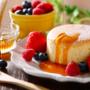 お正月に余ったお餅の消費に…😊『お餅入りホットケーキ』がモッチリ美味しい🍩🧁