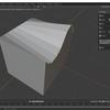 Blender2.8でカーブを使って頂点を変形させる(Mira Toolsアドオン)