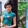 上海桂林公園チャイナドレス美女ポートレート撮影