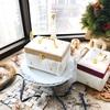 【カルトナージュ】11月・12月Monthlyレッスン ぷっくりとしたバッグ型のBox