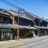 【色褪せた写真の修復・写真修復の専門店】古い町並み 邪魔な電線と影