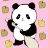 梨とヨーグルト パンダのイラスト