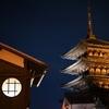 年末の京都の夜、手持ち撮影