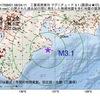 2017年09月01日 08時04分 三重県南東沖でM3.1の地震