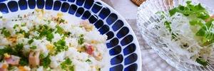 【60代主婦のお昼ごはん】炒めないチャーハンを作りました。頑張らない手抜きごはん(^^ゞ