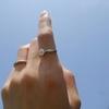 大人気!一粒ダイヤ お試しリングの着用画像頂きました!