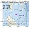 2017年10月12日 12時15分 宗谷東方沖でM4.8の地震