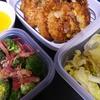 パプリカポタージュ、レタスサラダ、豆腐クリームコロッケ、ブロッコリーサラダ