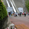 宮ケ瀬ダムの観光放水
