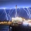 California Rain Storm Lightning...