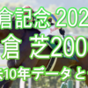 【小倉記念 2021】過去10年データと予想