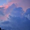 山の雲の顔