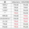 IsNumeric関数とISNUMBER関数の違い