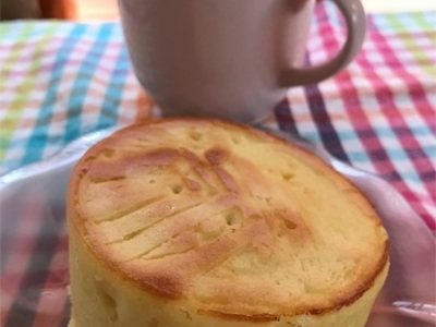「あっ、これいい!」〜シリコンカップで簡単、厚焼きパンケーキ〜