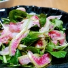 パッと華やか!帆立貝柱と紅芯大根ぬか漬けのサラダ