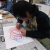 クレヨンでぐるぐるお絵描き、そして絵画教室へ