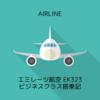 エミレーツ航空 EK323 ソウルICN→ドバイDXB ビジネスクラス