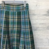 【Scye】  Cotton and Linen Blend Plaid Maxi Length Skirt