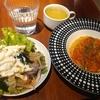 神田【Pasta Fresca】小海老とバジルソースのアンチョビトマトソース ¥1000