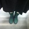 日本野鳥の会の長靴(レインブーツ・グリーン)