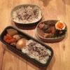 【お弁当キロク】麺つゆで味付け卵、鶏肉とこんにゃくの煮物