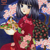「雛の宵」オリジナルアナログイラスト:江戸時代の宮中装束