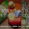 585食目「加賀太きゅうり 打木赤皮甘栗かぼちゃ 金時草」初金沢の旅で見つけた『加賀野菜』を味わってみようの回