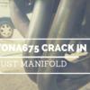 (7ヶ月ぶり2度目)デイトナ675のエキゾーストマニホールドにクラックができた
