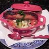 カンネリーニと野菜の煮こみ、w/ブリティッシュ・ソーセージ