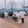 民青同盟が福島大学前で食糧支援