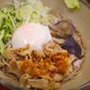 シビ辛冷やし肉そば温玉のせ。西新宿「箱根そば」