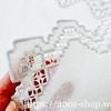 白いリネンに淡いパープルグレーのハーダンガー刺繍