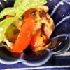 パプリカと鶏肉の蒸し煮