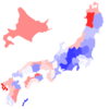 がん罹患数・率都道府県一覧基本集計表をjapanmapでコロプレス図作成