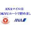 """【保存版】2020年 ANAマイルは""""TOKYUルート""""で貯める!!"""