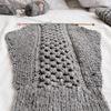 アラン模様のカーディガンを編みながら、途中でアクリルたわしも編んでみる。