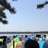 潮干狩りにテント ワンタッチで簡単日焼け対策