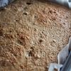 小麦ふすまと国産小麦(強力粉)でこねないパンを焼く◎