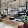 Black framed glass walls and doors / Art&Architecture#328