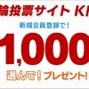 【楽天】Kドリームス無料会員登録で1800円分ポイントが稼げる