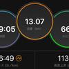 ジョギング13.07km・昨日に引き続き疲労抜きジョグ