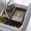 冷蔵庫だとお米保管も虫がこなくて安心 山崎実業 米びつ 密閉 シンク下米びつ 5kg